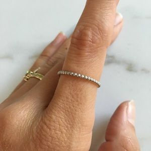 Pashey Bella Sterling Silver beaded stacking ring